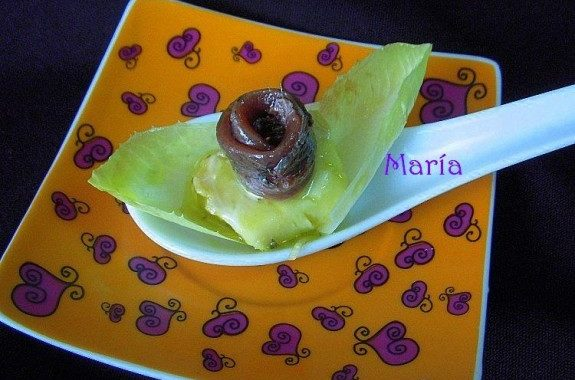 Anchoa con queso de cabra marinado en aceite de oliva