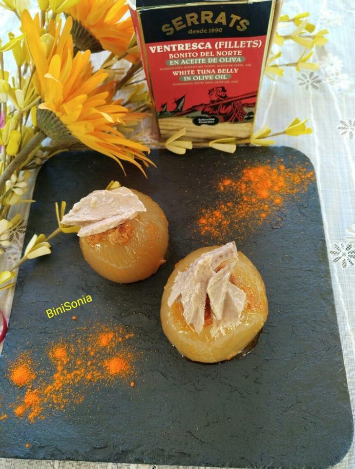 Cebollas rellenas de Bonito del Norte