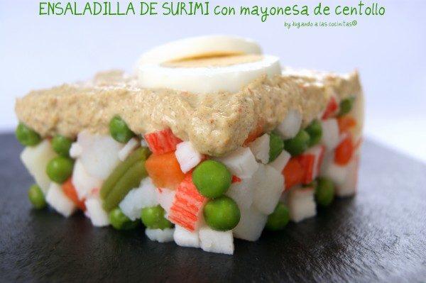 Ensaladilla de surimi y mayonesa de centollo