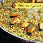 Receta de arroz con mejillones en escabeche y uvas
