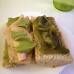 Bocadillo de Bonito del Norte con pimiento verde y guacamole