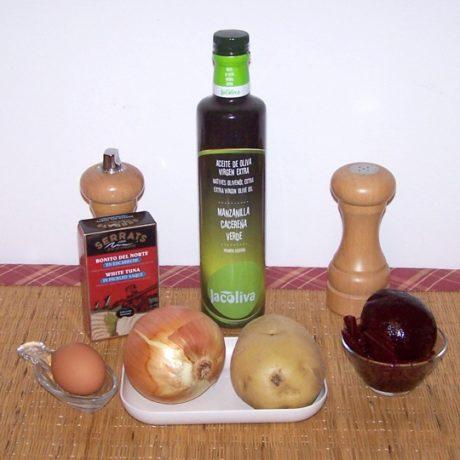 Ingredientes para la ensalada de remolacha
