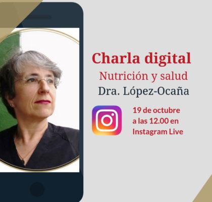 Charla digital sobre nutrición y salud