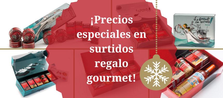 Cajas regalo gourmet ¡a precios excepcionales!