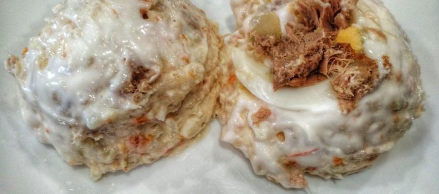 Ensaladilla con Bonito del Norte y huevo de choco