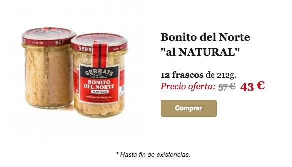 Comprar Bonito al Natural. Oferta