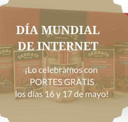 Día mundial de Internet, portes gratis