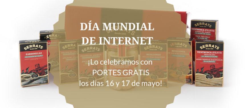 Celebramos el Día Mundial de Internet con PORTES GRATIS en serrats.com