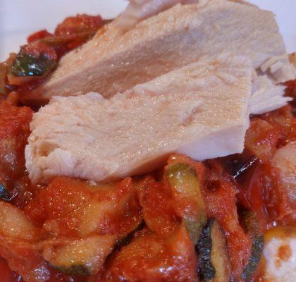 Fritada de verduras con atún