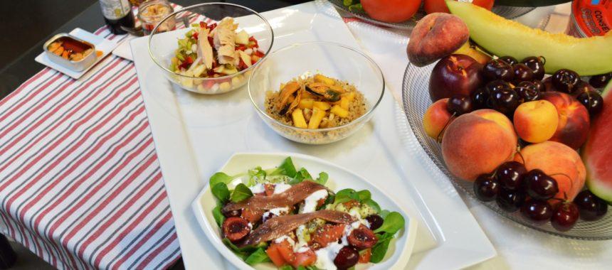 3 ensaladas con fruta. ¡Completas, rápidas y deliciosas!
