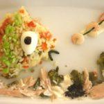 Divertida ensalada de arroz para niños