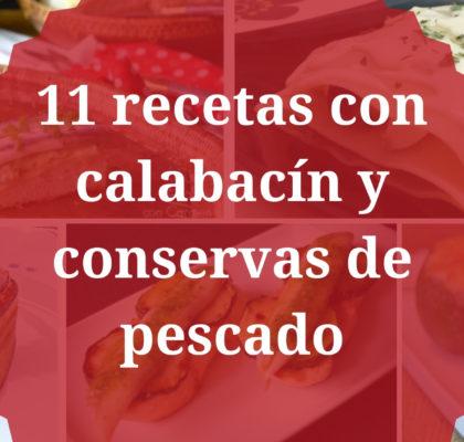 11 recetas con calabacín y conservas de pescado