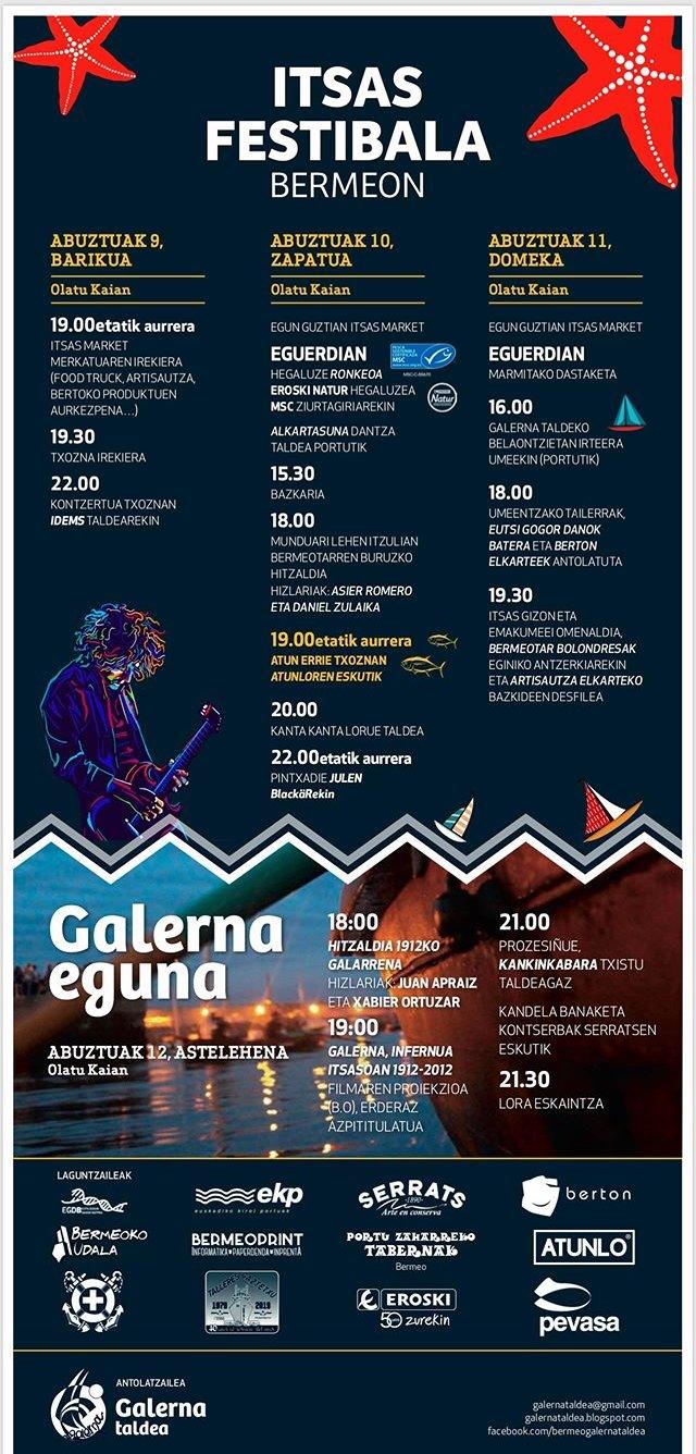 Galerna Eguna 2019. Itsas Festibala. Programa