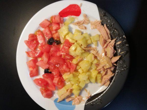 recetas para niños, ensalada pez
