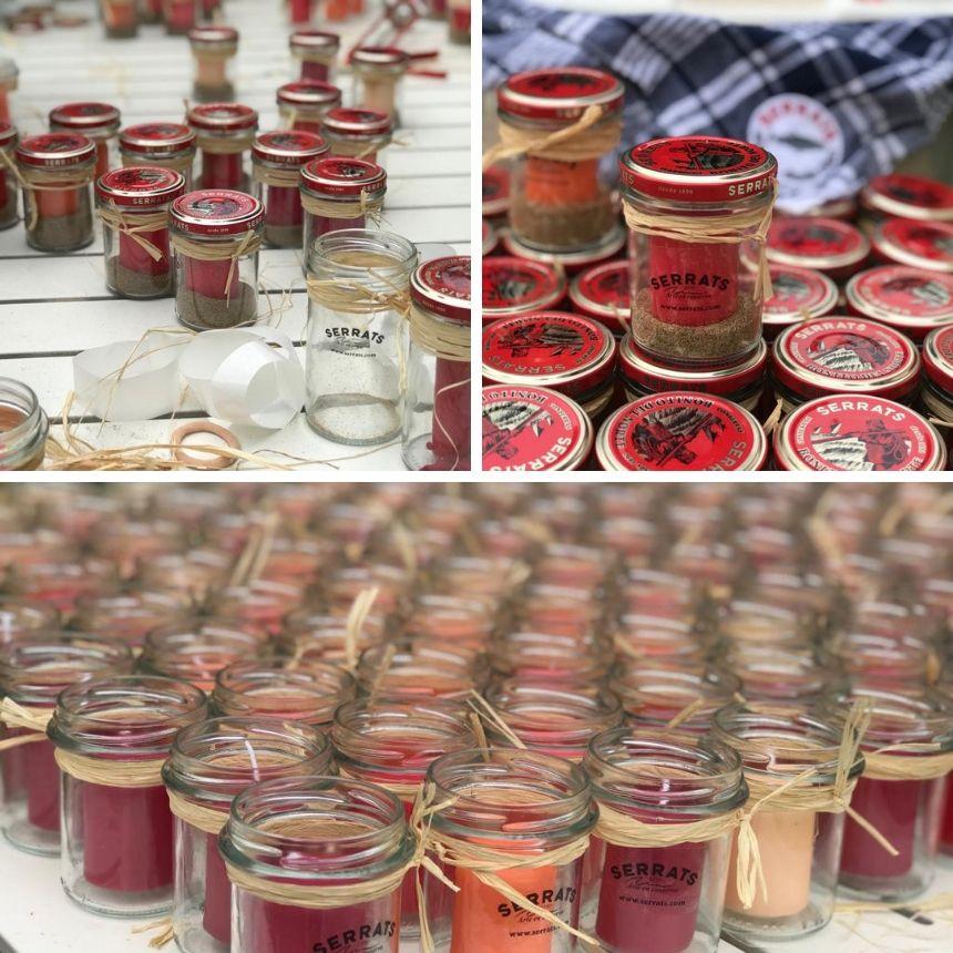 Preparando las velas para el Galerna Eguna