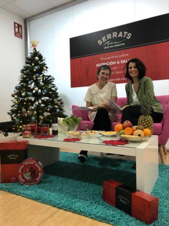 La Dra. Arantza López-Ocaña y Esperanza Serrats en el encuentro sobre Nutrición y Salud del 13 de diciembre