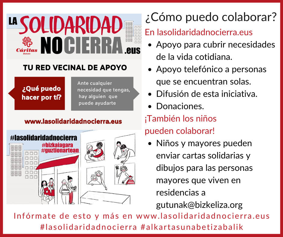 La solidaridad no cierra, cómo colaborar con Cáritas