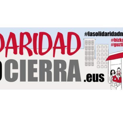 """""""La solidaridad no cierra"""", campaña de Cáritas Bizkaia"""