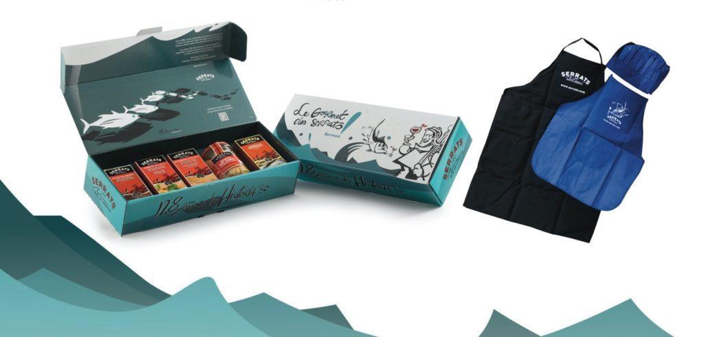 Premios del concurso especial de recetas de ensaladas: pack arte con conservas gourmet y delantales Serrats edición limitada