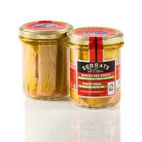 Bonito del Norte en aceite de oliva virgen ecológico. Frasco 212g.