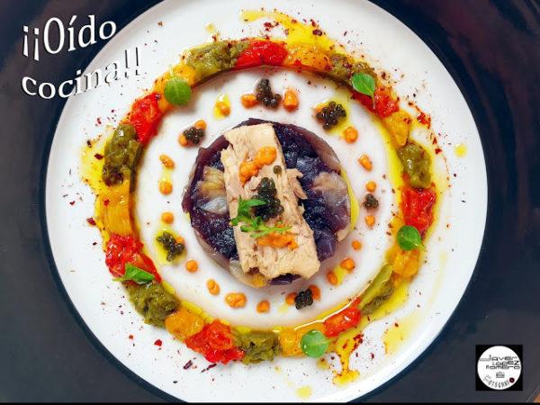 Ensalada de pimientos tricolor asados con Bonito del Norte