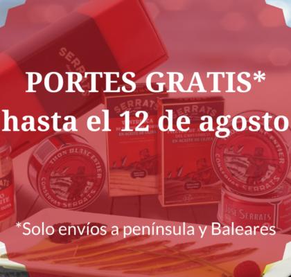 Portes gratis hasta el 12 de agosto en Conservas Serrats