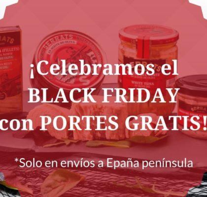 PORTES GRATIS en serrats.com para celebrar el BLACK FRIDAY
