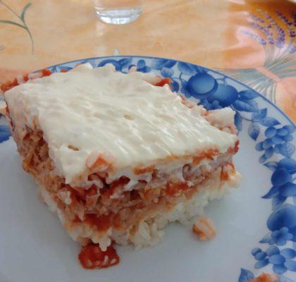 Pastel frío de arroz y bonito del norte ECO