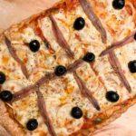 Pizza casera de espelta con anchoas