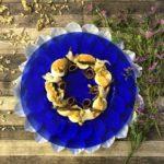 Ensalada agridulce con naranja, bacalao ahumado y anchoas