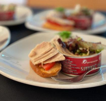 Uno de los pintxos degustados en la actividad Tuna Tasting