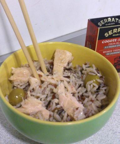 Ensalada de arroz con cogote