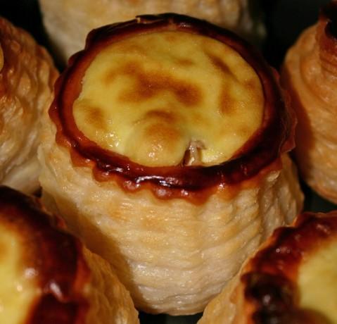 Los vol-au-vant recien sacados del horno