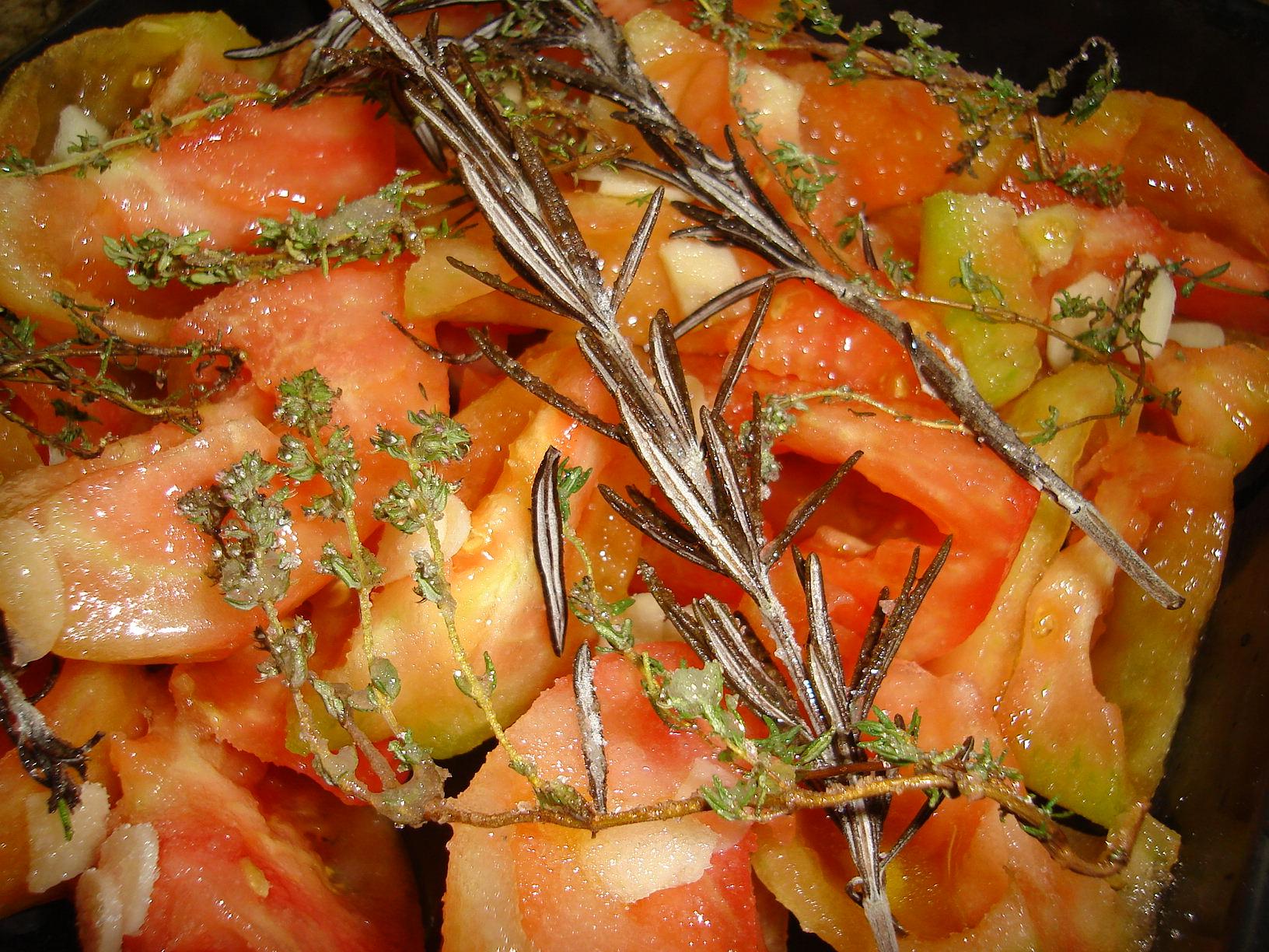 Milhojas de ventresca y tomate