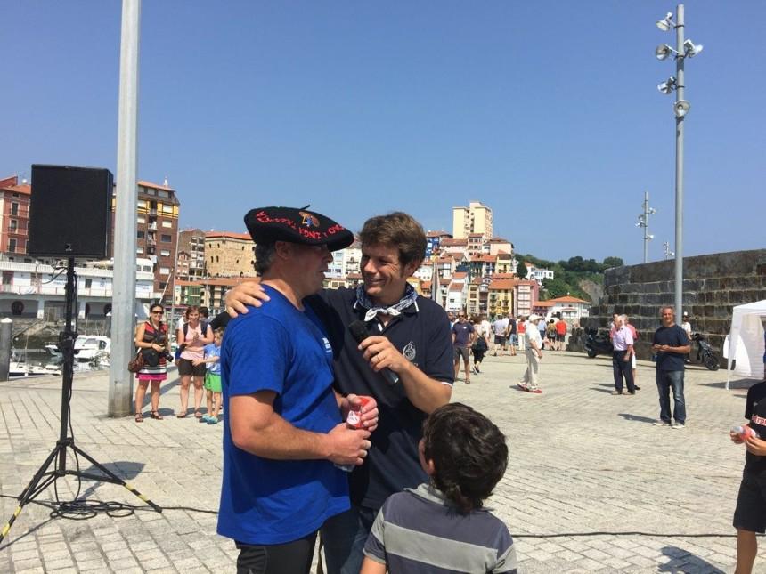 Inaxio, ganador del campeonato de zinga con Unai Bilbao, de Galerna Taldea