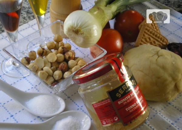 Ingredientes para Empanadillas de Bonito del Norte Serrats y romescu