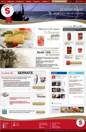 Nueva web de Conservas Serrats