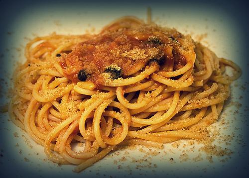 Espaguetis con sardinillas