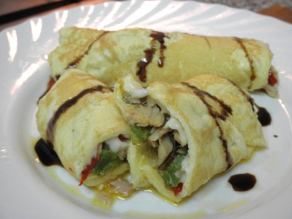 Torti-crépe de bonito del norte Serrats y verdura