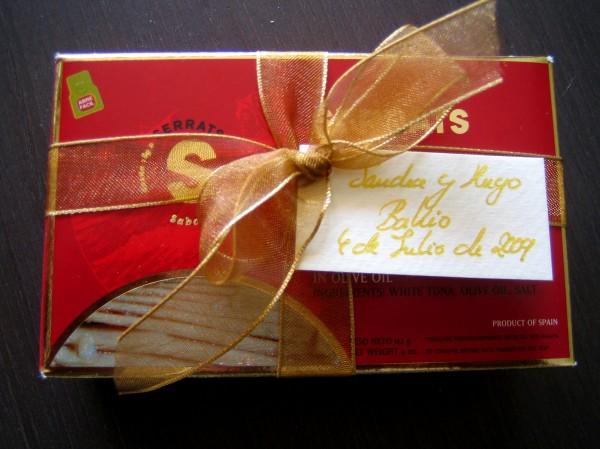 Ventresca de Bonito de Conservas Serrats como regalo de boda