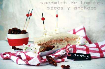 Sandwich de tomates secos y anchoas