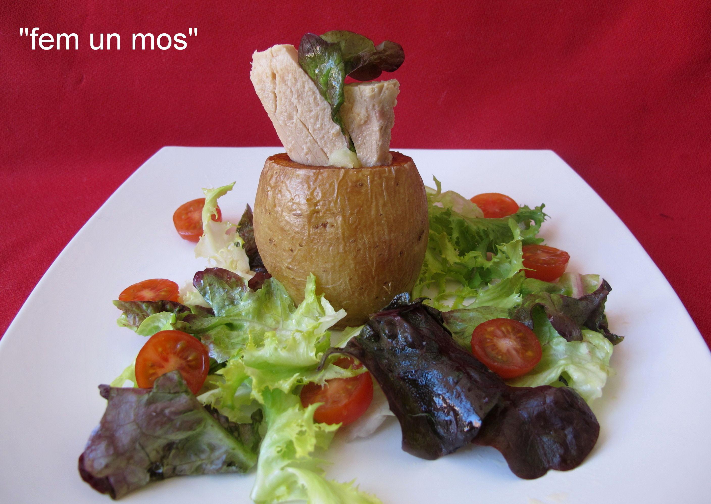 Tronco de patata y bonito del norte