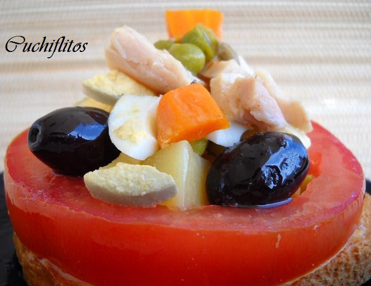 tapita de ensalada con bonito del norte de Conservas Serrats_2