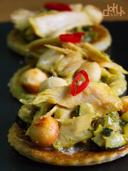 Aperitivo de curry de ventresca