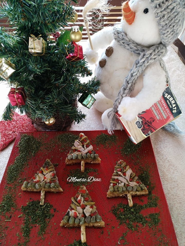 Arbolitos navideños de bonito del norte