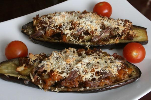 Berenjenas rellenas con calabaza y anchoas