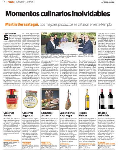 Cogote de Bonito del Norte Serrats en El Diario Vasco