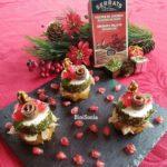 Canapés de Navidad: Milhojas de atún con anchoa