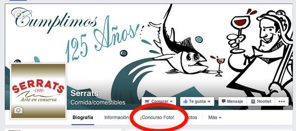 Conservas Serrats en Facebook