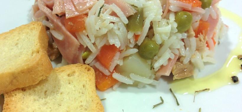 Ensaladilla de arroz con Bonito del Norte